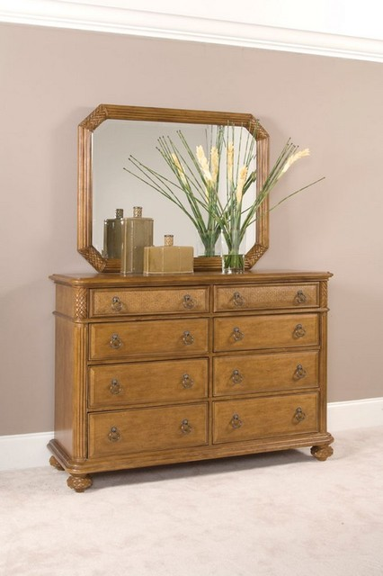 American Drew 079-050 Grand Isle Landscape Mirror traditional-makeup-mirrors