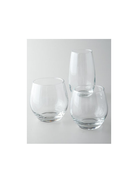 "Horchow - ""Kalix"" Glassware - Must-have glassware embodies simple elegance—sure to enhance any gathering from casual to festive. Sold in sets of 12. Made of soda-lime and sand glass. Dishwasher safe. Rocks glass, approximately 3""Dia. x 3.25""T; holds 10.25 ounces. Double old..."