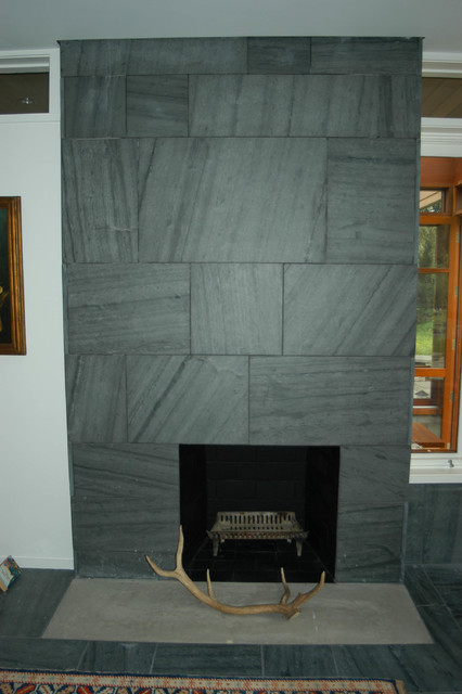 Black Slate Fireplace Surround : Slate fireplace surround indoor fireplaces other metro