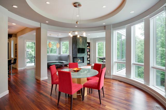 New Construction Contemporary contemporary-dining-room