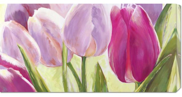 Leonardo Sanna 'Tulipes' Stretched Canvas Art contemporary-artwork