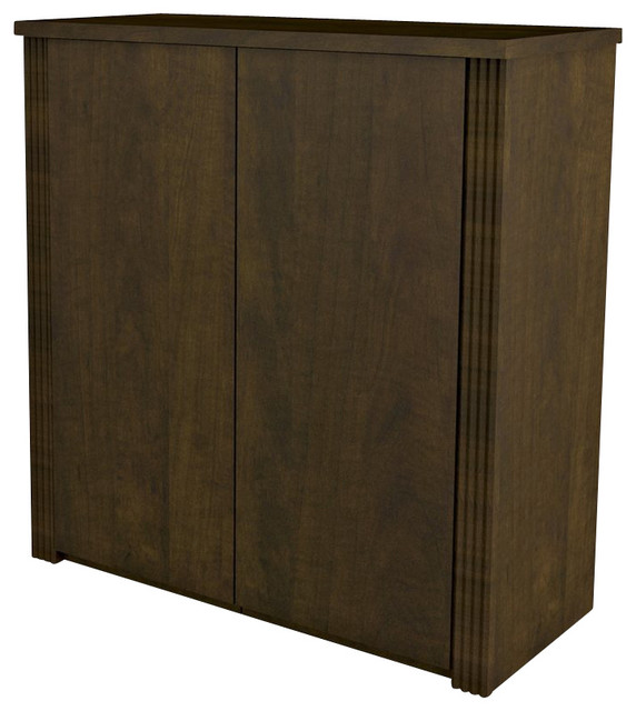 """Bestar Prestige + Two-Door Cabinet for 36"""" Lateral File in Chocolate - Transitional - Filing ..."""