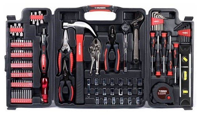 husky multi purpose tool set 123 pieces contemporary hand tools and tool sets by home depot. Black Bedroom Furniture Sets. Home Design Ideas
