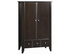 Shoal Creek Ready-to-Assemble Jamocha Armoire traditional dressers chests and bedroom armoires