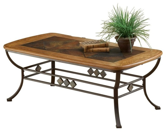 Hillsdale Lakeview Wood and Slate Top Cocktail Table Multicolor - HL2887 contemporary-furniture
