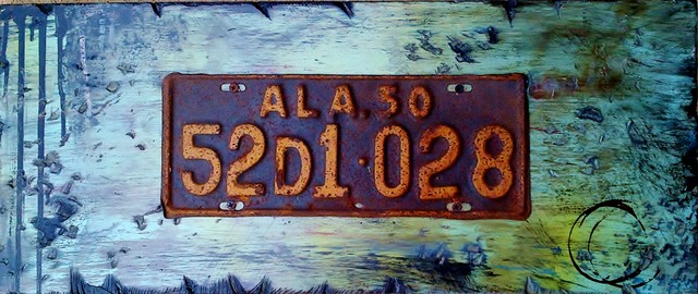 Vintage License Plate Collection contemporary