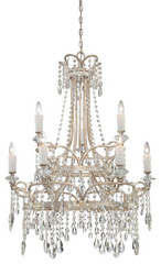 Tricia Vintage Silver Nine Light Chandelier Quoizel Candles Without Shades Chand