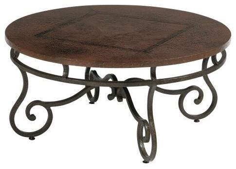 Bernhardt Carmel Round Metal Coffee Table contemporary-coffee-tables
