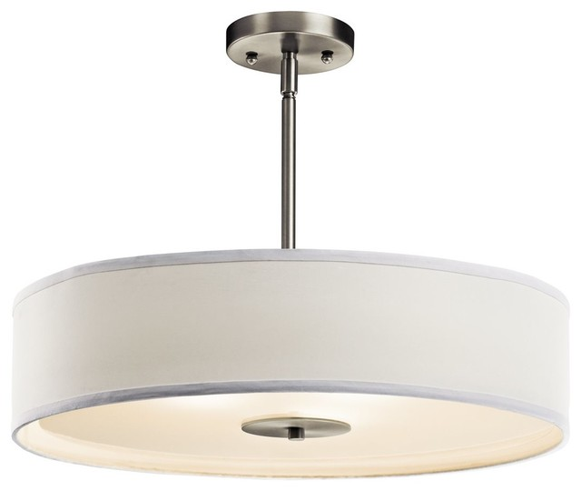 BUILDER Crystal Persuasion 100W Transitional Inverted Pendant / Semi Flush Mount contemporary-pendant-lighting