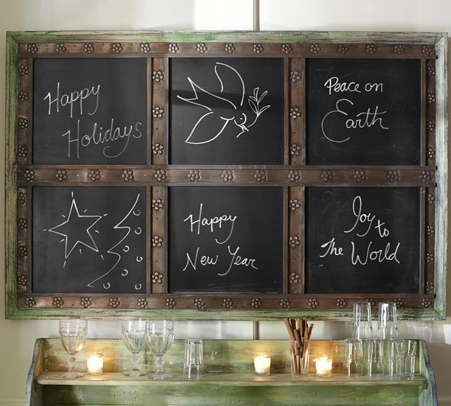 Laidley Wall-Mount Entryway Chalkboard - Traditional - Bulletin Boards And Chalkboards - by ...