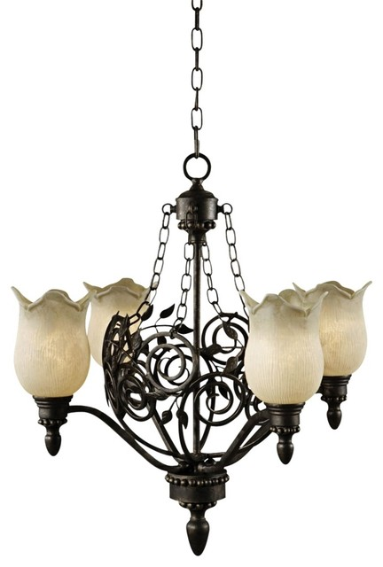 Traditional Uttermost Toulouse 4-Light Chandelier traditional-chandeliers