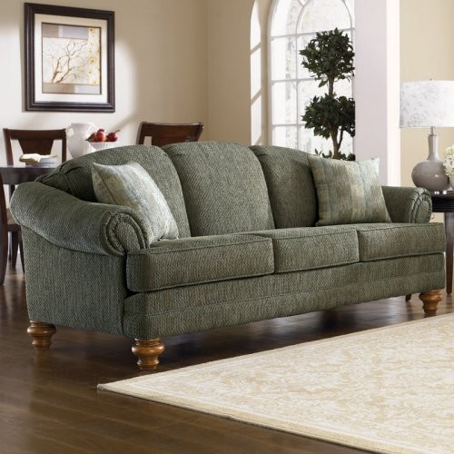 Charles Schneider Hope Green Fabric Sofa With Accent