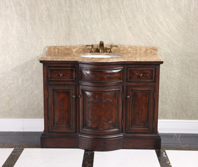 Ornate bathroom vanities with new style for Traditional style bathroom vanities