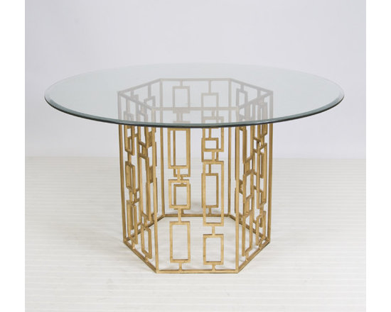 Jackson Gold Leafed Dining Table -