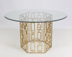 Jackson Gold Leafed Dining Table eclectic-dining-tables