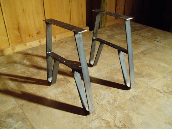 Steel Table Legs Modern Coffee Tables Other Metro
