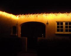 Warm White LED Icicle Lights lighting