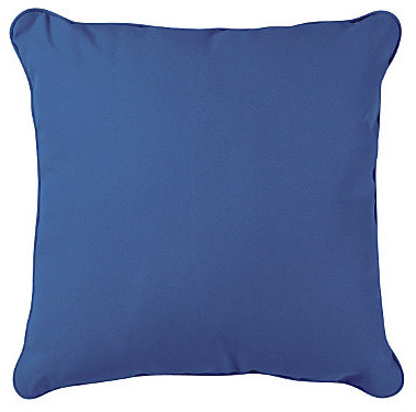 """15"""" Throw Pillow 15""""Sq.x6"""" - Nautical Blue contemporary-outdoor-cushions-and-pillows"""