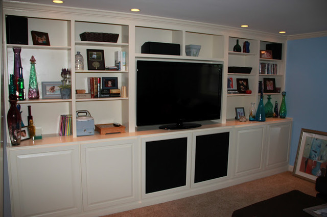 built in cabinets traditional display and wall shelves. Black Bedroom Furniture Sets. Home Design Ideas
