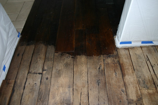 Reclaimed antique french oak refinishing for Reclaimed wood flooring seattle