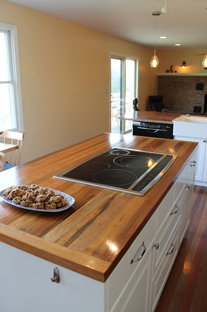 Reclaimed wood tables counters kitchen countertops for Reclaimed wood portland or
