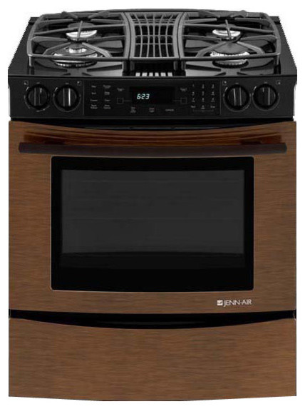 jenn air 30 slide in gas downdraft range oiled bronze jgs9900cdr gas ranges and electric. Black Bedroom Furniture Sets. Home Design Ideas