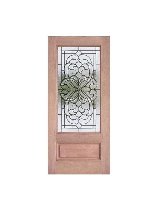 """Decorative 3/4 Lite, Mahogany Single Entry Door, 36x80 - SKU#PL-72_1BrandAAWDoor TypeExteriorManufacturer CollectionBudget DoorsDoor ModelDoor MaterialWoodgrainVeneerPrice550Door Size Options36"""" x 80"""" (3'-0"""" x 6'-8"""")  $0Core TypeDoor StyleDoor Lite Style3/4 LiteDoor Panel Style1 Panel , Raised MouldingHome Style MatchingBay and Gable , Bungalow , Elizabethan , Plantation , VictorianDoor ConstructionEngineered Stiles and RailsPrehanging OptionsPrehung , SlabPrehung ConfigurationSingle DoorDoor Thickness (Inches)1.75Glass Thickness (Inches)3/4Glass TypeTriple GlazedGlass CamingBrass , BlackGlass FeaturesTempered , InsulatedGlass StyleGlass TextureGlass ObscurityDoor FeaturesDoor ApprovalsDoor FinishesDoor AccessoriesWeight (lbs)340Crating Size25"""" (w)x 108"""" (l)x 52"""" (h)Lead TimeSlab Doors: 7 daysPrehung:14 daysPrefinished, PreHung:21 daysWarranty"""