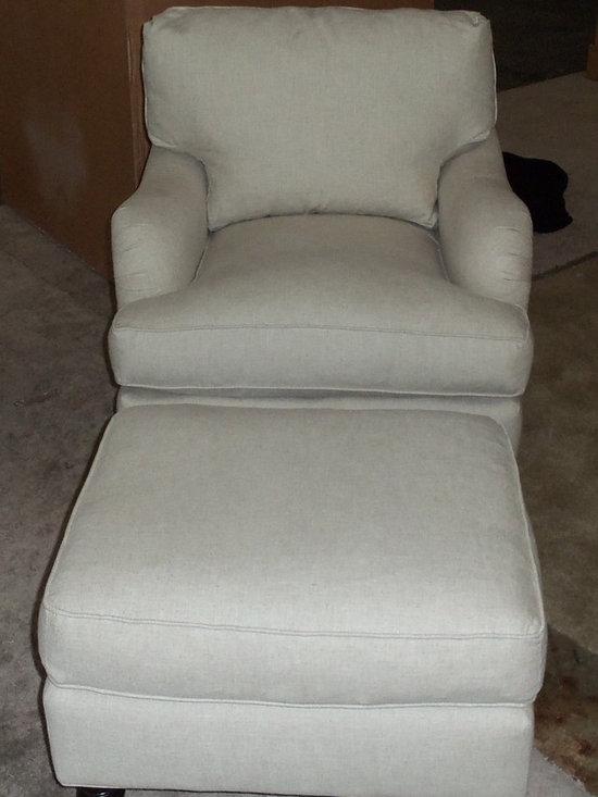 Customer Custom Orders - Robin Bruce Brooke Chair and Ottoman