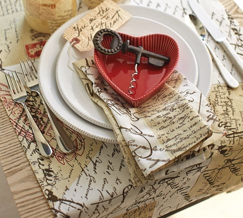 Love Letter Table Runner eclectic table linens