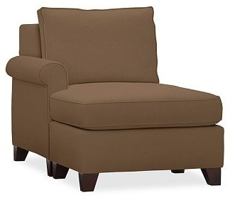 Cameron Roll Arm Upholstered Left Arm Chaise Sectional, Polyester Wrap Cushions, traditional-sofas