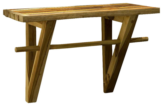 salon wall shelves : Spa Shelf Farmed Teak Hand Doweled 23Wx12Dx16 inch H w Eco Friendly ...