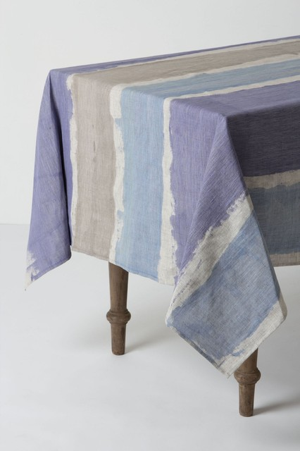 Brooks of Bohemia Tablecloth, Blue contemporary-tablecloths