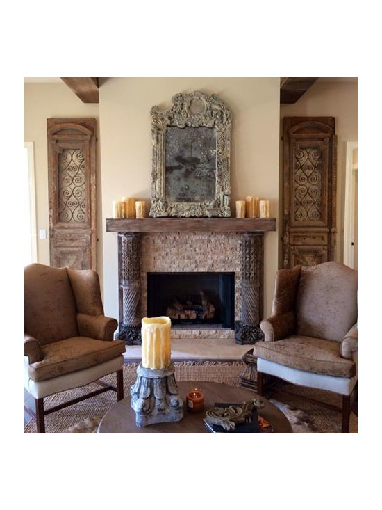 Custom mantel and wall decorations -