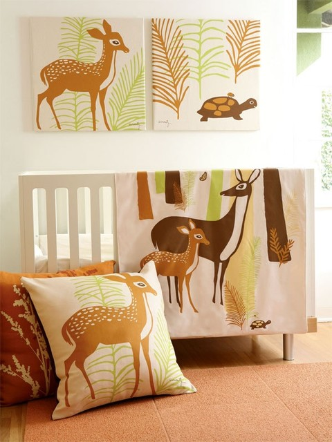 Amenity Nursery - Woods Floor Pillows eclectic baby bedding