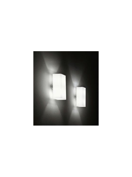 Block P Wall Lamp \ Sconce By Leucos Lighting - Block P Wall sconce by Leucos Lighting is a series of sleek rectangular modern wall fixtures,