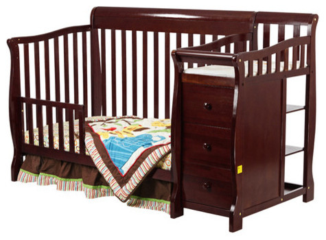 Mini Crib With Changing Table Attached Alfa img - Showing > In 1 Convertible Crib with Changing Table