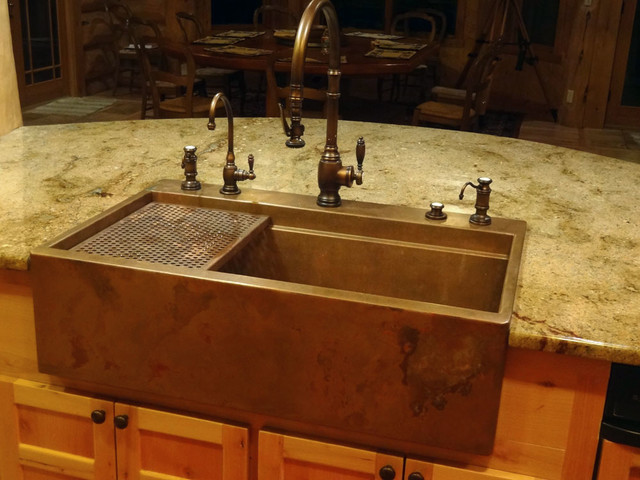 Copper Farmhouse Sink by Rachiele Eclectic Kitchen Sinks other metro