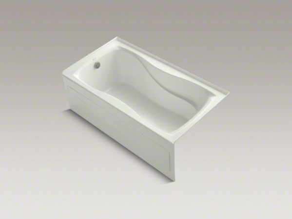 """KOHLER Hourglass(R) 60"""" x 32"""" alcove bath with integral apron and tile flange an contemporary-bathtubs"""