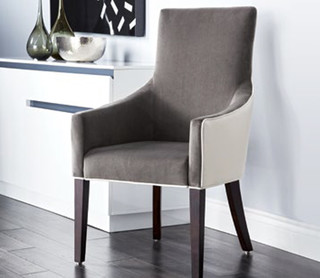 Vincent fabric arm chair for Modern dining chairs vancouver