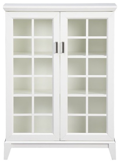 Paterson White 2-Door Cabinet | Crate&Barrel traditional-storage-units-and-cabinets
