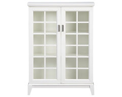 Paterson White 2-Door Cabinet | Crate&Barrel traditional-storage-cabinets