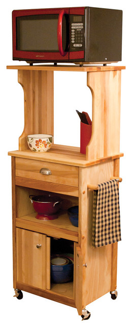 Hutch Top Cart with Open Storage - Contemporary - China Cabinets And Hutches - by Overstock.com