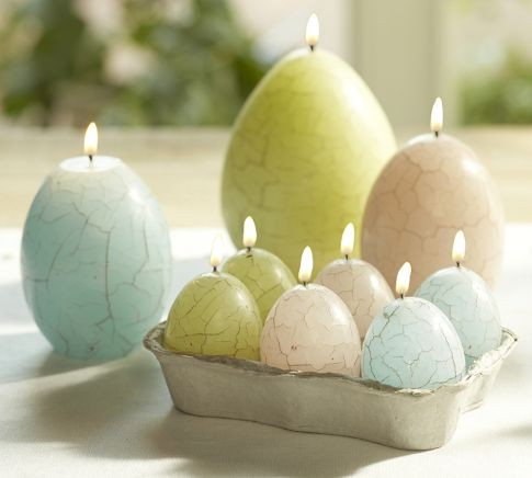 Crackle Egg Easter Candle Contemporary Candles By