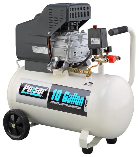 Pulsar Products 10 Gallon Air Compressor Contemporary