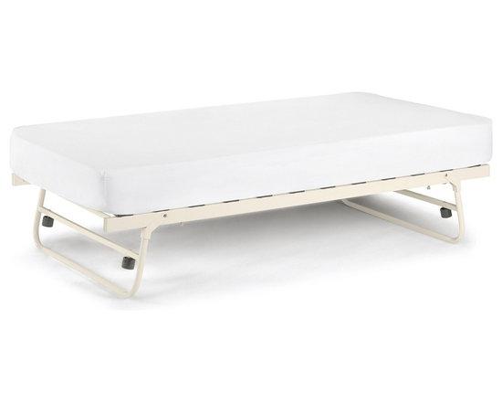 Debenhams Off-white 'Etienne' guest bed with 'Platinum' mattress -