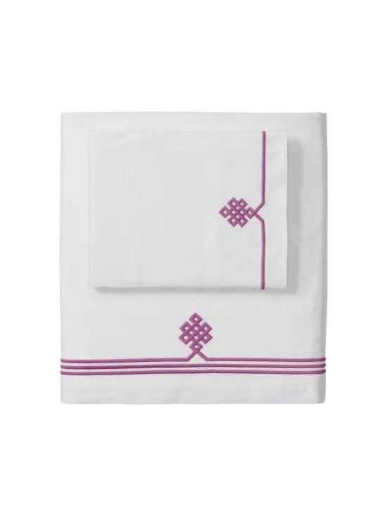 Berry Gobi Embroidered Pillowcases