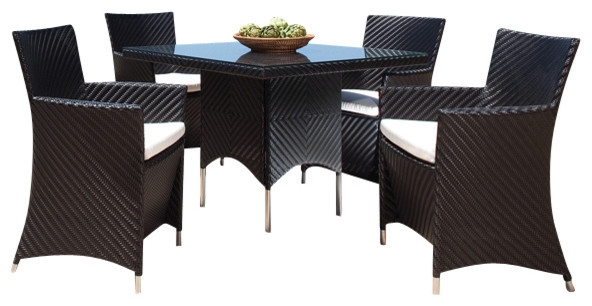 Valencia 5pc Contemporary Outdoor Furniture modern-outdoor-lounge-chairs