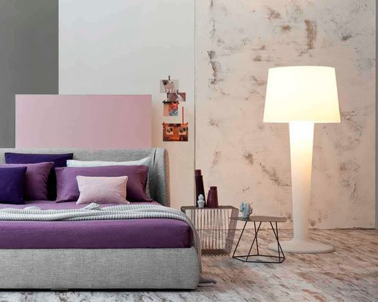 Basket Bed - The Basket has the enveloping shape of the soft padded headboard, which is rounded on the sides, gives the Basket double bed a pleasant and welcoming appearance. Basket is available in fabric, leather, or eco-leather with fully removable upholstery covers. Also available in the storage version.