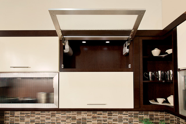 Hinge top wall cabinet contemporary kitchen cabinetry for Best hinges for kitchen cabinets