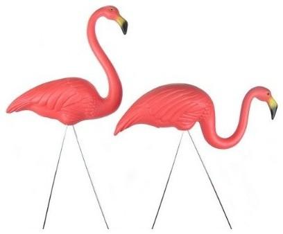 Patio Flamingos eclectic-garden-statues-and-yard-art